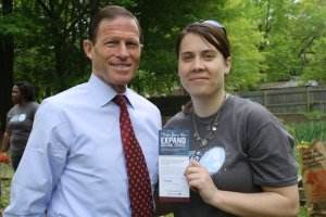 Katherine Jones with Sen. Blumenthal